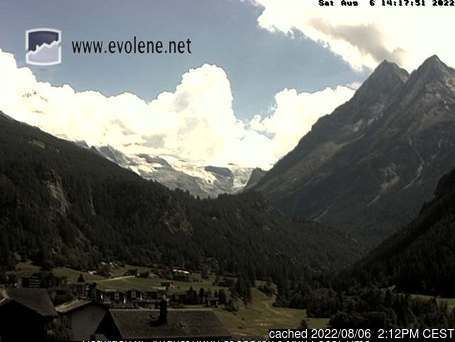 Evolène webcam alle 2 di ieri sera