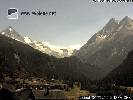Evolène webcam at 2pm yesterday