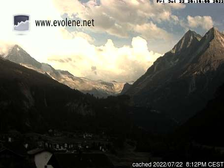 Live webcam per Evolène se disponibile