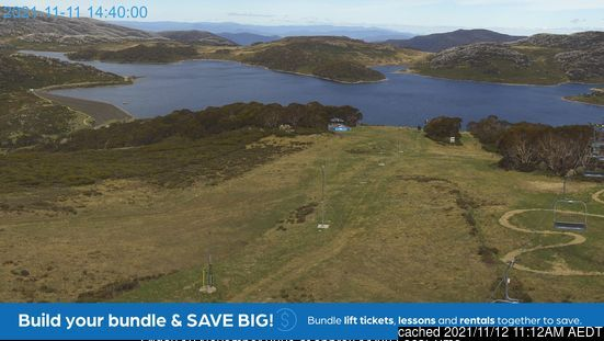 Falls Creek webcam all'ora di pranzo di oggi
