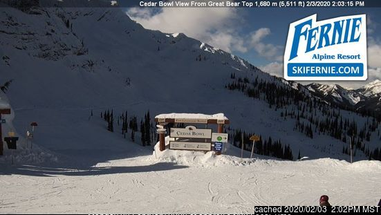 Fernie webcam at 2pm yesterday