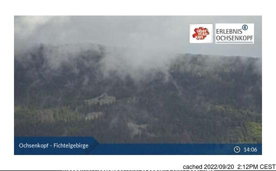 Fichtelberg webkamera ze včerejška ve 14 hod.