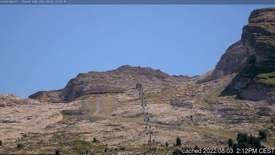 Flaine webcam at 2pm yesterday