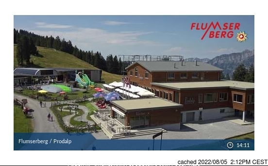 Flumserberg webcam at 2pm yesterday