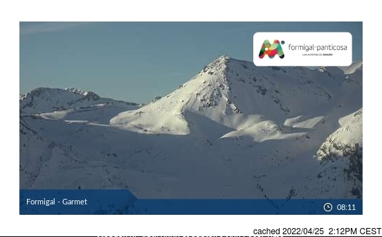 Formigal webcam at 2pm yesterday