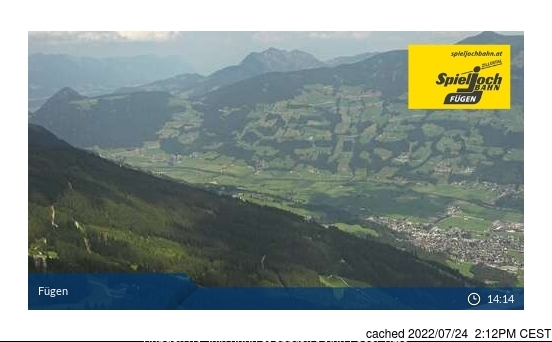 Fügen/Spieljoch webcam at 2pm yesterday