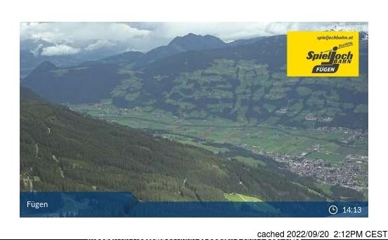 Fügen/Spieljoch webcam at 2pm yesterday