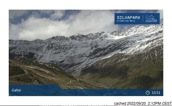 Webcam de Galtur-Silvapark à 14h hier