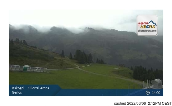 Gerlos webcam at lunchtime today