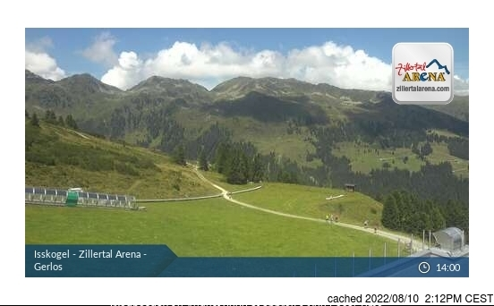 Gerlos webcam at 2pm yesterday