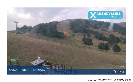 Live Snow webcam for Grandvalira El Tarter