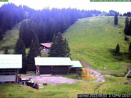 Grasgehren/Bolgengrat webcam às 14h de ontem