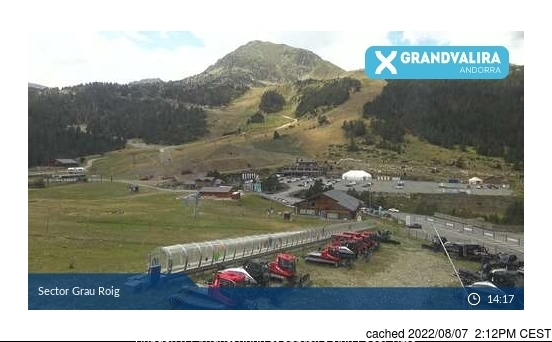 Grandvalira-Grau Roig webcam at lunchtime today