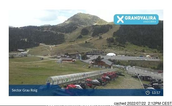 Grandvalira-Grau Roig webcam at 2pm yesterday