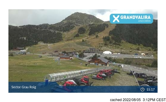 Live webcam per Grandvalira-Grau Roig se disponibile