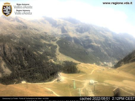 Gressoney-la-Trinite webcam all'ora di pranzo di oggi