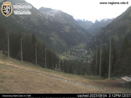 Gressoney-Saint-Jean Webcam gestern um 14.00Uhr