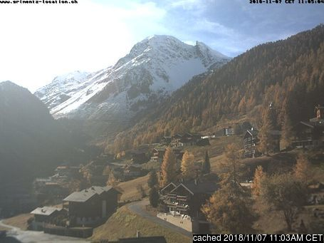 Grimentz webcam at lunchtime today