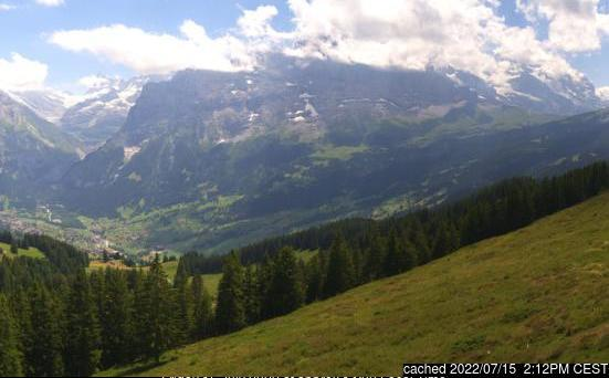 Grindelwald webcam at 2pm yesterday