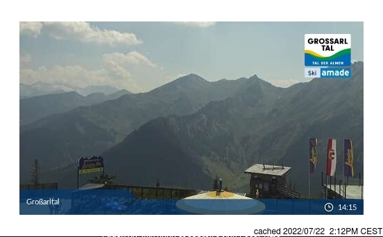 Grossarl-Dorfgastein webcam at lunchtime today