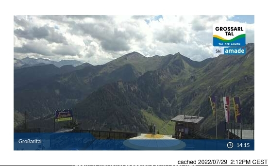 Grossarl-Dorfgastein webcam at 2pm yesterday