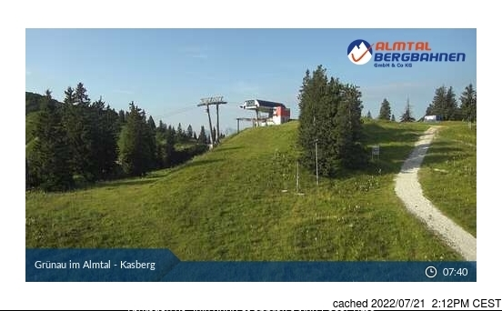 Grünau im Almtal webcam at 2pm yesterday
