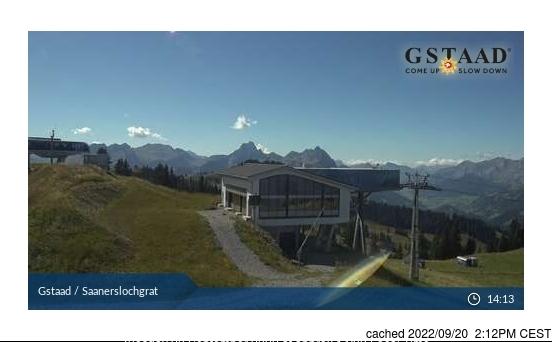 Gstaad Webcam gestern um 14.00Uhr