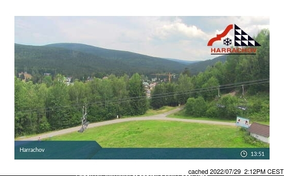 Harrachov Webcam gestern um 14.00Uhr