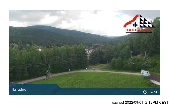 Webcam de Harrachov a las 2 de la tarde ayer