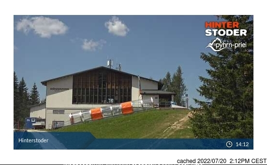 Hinterstoder webcam at 2pm yesterday