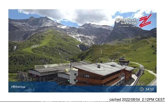 Hintertux webcam at 2pm yesterday