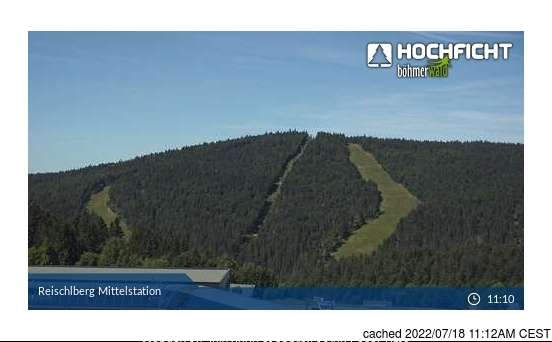 Hochficht-Schwarzenberg webcam op lunchtijd vandaag