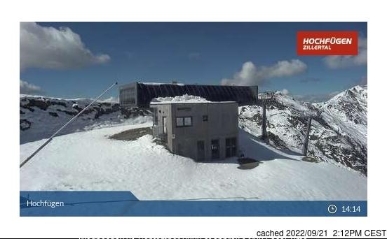 dün saat 14:00'te Hochfügen'deki webcam