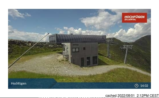 Hochfügen webcam at 2pm yesterday