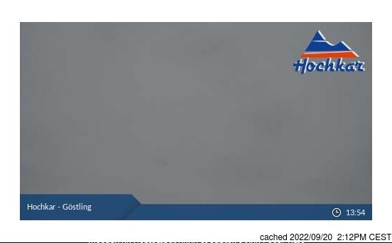 Hochkar-Göstling webcam om 2uur s'middags vandaag