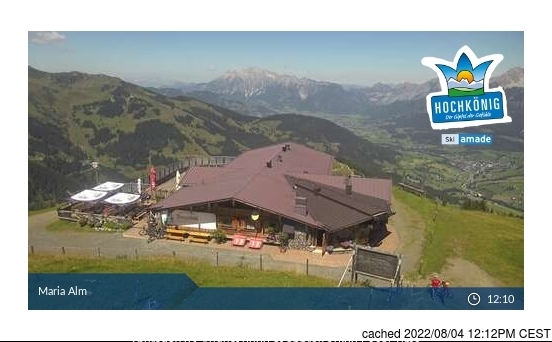 Hochkönig webcam at lunchtime today