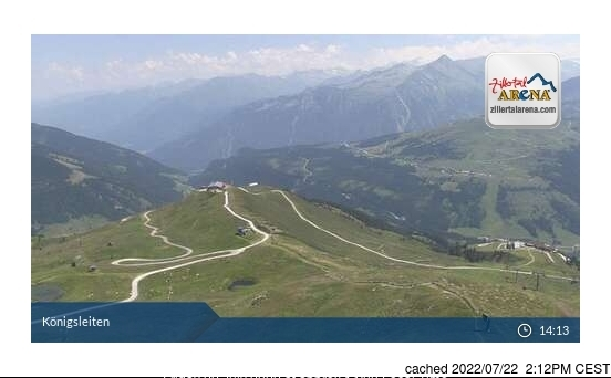 Hochzillertal-Kaltenbach webcam at 2pm yesterday