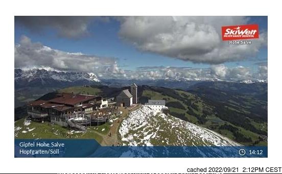 Hopfgarten webcam all'ora di pranzo di oggi