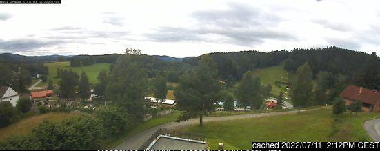 Horní Vltavice webcam at lunchtime today