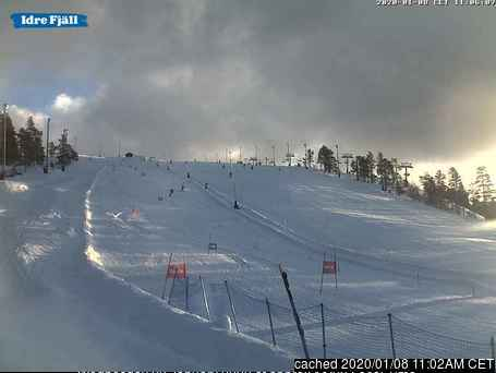 Idre Fjäll webcam at lunchtime today