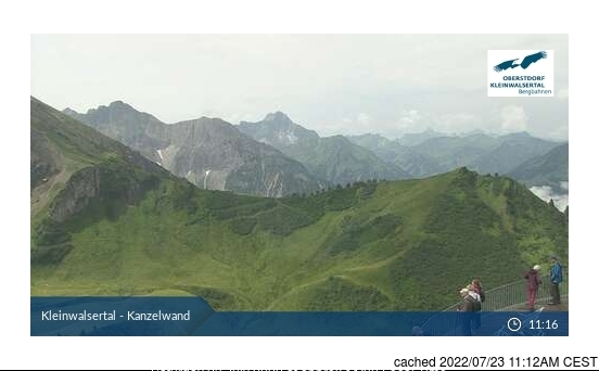 Ifen (Kleinwalsertal) webcam at lunchtime today