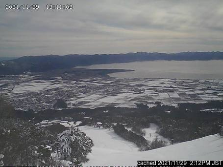 Inawashiro Ski webkamera ze včerejška ve 14 hod.