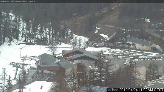 Isola 2000 webcam heute beim Mittagessen