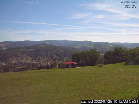 Jablonec nad Jizerou - Kamenec webcam at lunchtime today