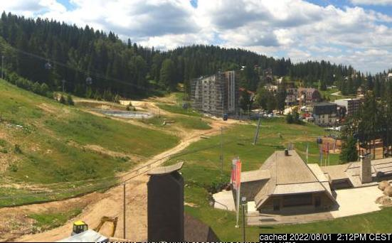 Jahorina webcam at 2pm yesterday