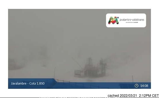 Webcam de Javalambre a las 2 de la tarde ayer