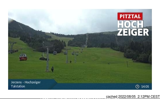 Jerzens webcam at lunchtime today