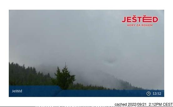 Bugün akşam yemeğinde Ještěd'deki webcam