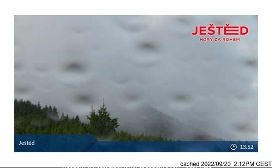 Ještěd webcam om 2uur s'middags vandaag