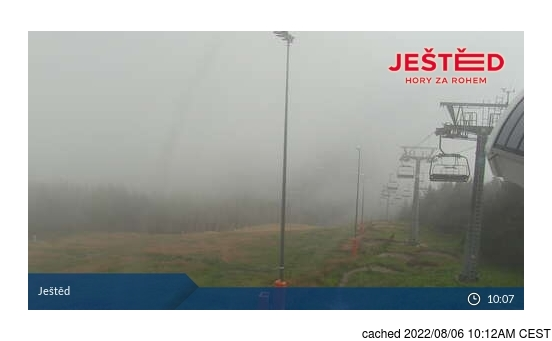 Live webcam per Ještěd se disponibile